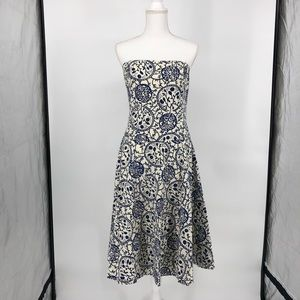 Anthropologie Dresses - Anthropologie strapless punchline dress 12